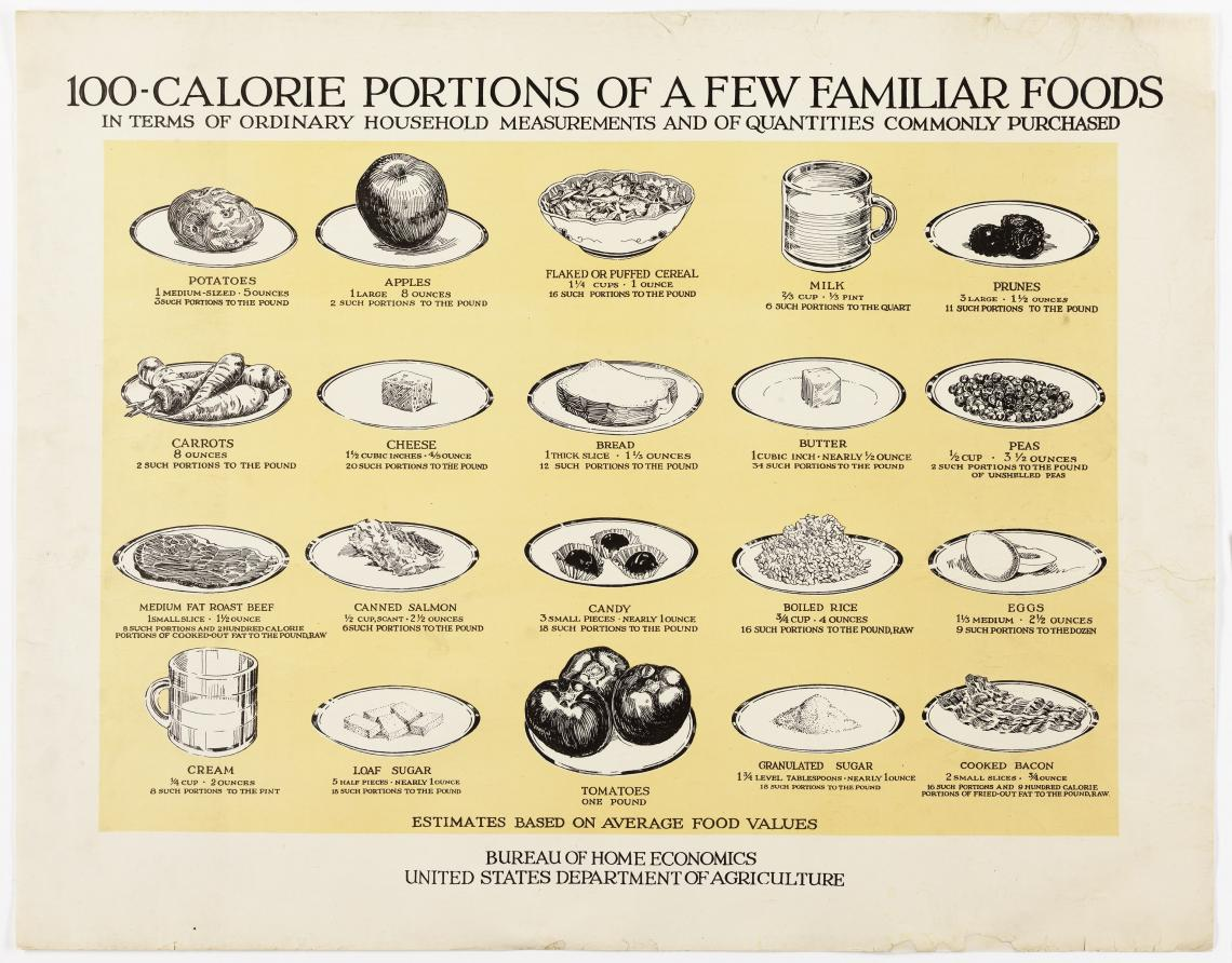 depiction of 100-calorie foods